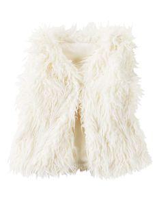 Toddler Girl Faux Fur Vest | Carters.com
