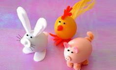 Páscoa: Ovos decorados com bichinhos ~ Arte De Fazer | Decoração e Artesanato