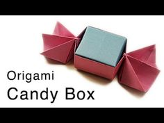 Origami Candy Shaped Box Tutorial