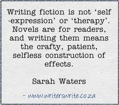 Finally, someone said it! For me, writing isn't an escape, it's a job. You don't write when it's emotionally convenient for you - you write because you have to.