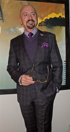 Sand suit, Hudson Room shirt, purple accessories - Tumblr  #menstyle #menswear #menscouture #mensfashion #instafashion #fashion #hautecouture #sartorial #sprezzatura #style #dapper #dapperstyle #pocketsquare