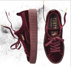 5160f77c219 Rihanna fenty x puma creepers Brand new Burgundy Rihanna fenty x puma  creepers Velvet limited edition Puma Shoes