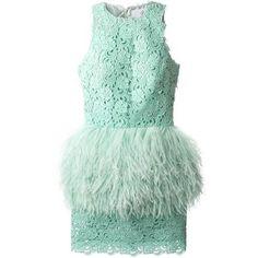 Daizy Shely Feather Peplum Dress