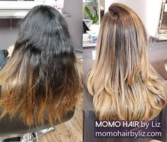 This is a complete makeover. Japanese Hair Straightening, Best Hair Salon, Japanese Hairstyle, Perms, Kinky, Hair Color, Curly, Hairstyles, Long Hair Styles