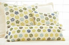 #PineConeHill Star Crewel Decorative Pillow
