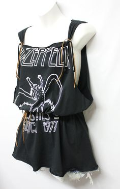 Led Zeppelin Elastic Waist Mini Dress by Julia by OneLovePasadena, $39.99