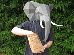 Make Your Own Elephant Mask with just Paper and by TetraVariations