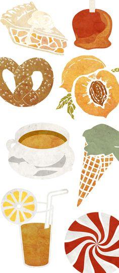 Recipe Calendar by Stephanie Sohn, via Behance, also a few of my favorite things...Casey Bowman White