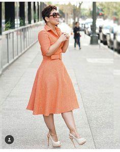 Mimi G: My Tweed DIY Dress + DIY Covered Belt. I used Simplicity Pattern 8014 in a fantastic fabric. I also made this in short version. Modest Fashion, Diy Fashion, Autumn Fashion, Fashion Dresses, Fashion Looks, Womens Fashion, Feminine Fashion, Runway Fashion, Diy Dress