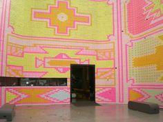 neon boho wall!