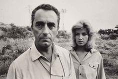 Michelangelo Antonioni and Monica Vitti. #antonioni #vitti #film