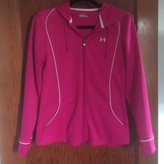Pink zip up sweatshirt Comfy material, perfect for working out and perfect condition! Under Armour Tops Sweatshirts & Hoodies