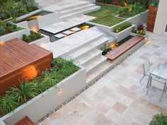 Tumbled Noce Travertine Pavers & step treads supplied by Sareen Stone. www.sareenstone.com.au