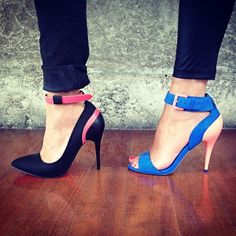 cute shoes #blockcolors