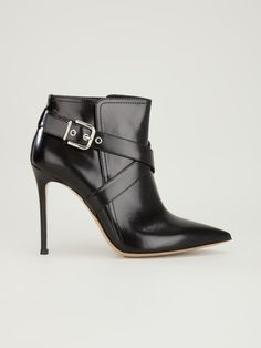Gianvito Rossi Black Buckled Ankle Boot