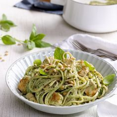 Collect this Chicken Pesto and Ricotta Linguini recipe by Perfect Italiano. MYFOODBOOK.COM.AU   MAKE FREE COOKBOOKS