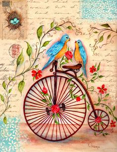 Bluebirds Cycle ~ Rosemary Hozempa