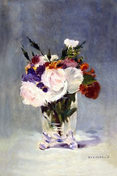 """""""Flowers in a Crystal Vase"""" by Edouard Manet"""