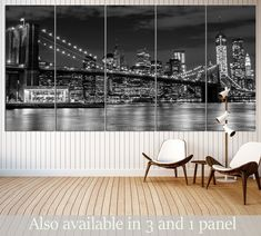 Brooklyn Bridge №3002 Framed Canvas Print