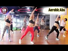 40 minuti di ginnastica sana danza aerobica corpo dimagrante passo dopo passo l addominali aerobici - YouTube