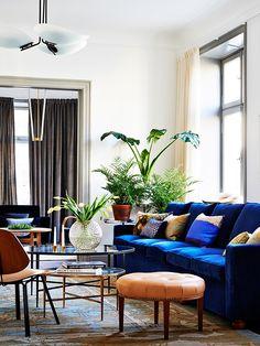 Svenskt Tennas Design Studio Grevgatan Living Room Couches Living Rooms Blue