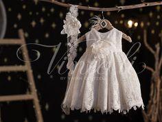 Βαπτιστικό φόρεμα Vinteli κιπούρ 2617