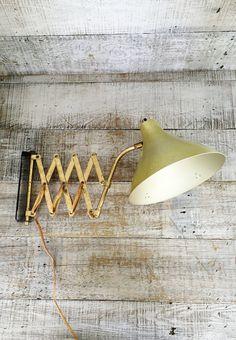 Accordion Wall Lamp Industrial Scissor Lamp Wall Mount Scissor Arm Extendable Lamp Swing Arm Light Vintage Swivel Light Mid Century Lighting by TheDustyOldShack on Etsy