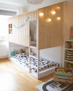 5 Genius Ways to Hack an Ikea Kura Bed Kura Bed Hack, Ikea Kura Hack, Ikea Hacks, Ikea Ikea, Ikea Loft Bed Hack, Trofast Hack, Ikea Bedroom, Bedroom Decor, Childs Bedroom