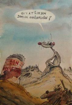 Anniversaire de rats par Ptiluc - Oeuvre originale http://www.2dgalleries.com/art/anniversaire-de-rats-19944