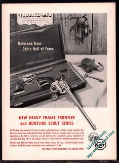 MASLAND cartoon Vintage /& Original 1952 COLT CHALLENGER .22 AUTOMATIC PISTOL