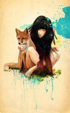 Fox Love by Ariana Perez, via Behance