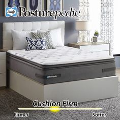 Sealy Posturepedic Plus Series Meadowdale Cushion Firm Euro Pillowtop Cal King Mattress Box Spring Not Included