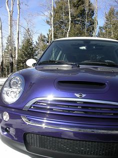 Saphira - My 2006 MINI Cooper S in Purple Haze with White Top - Full toggle
