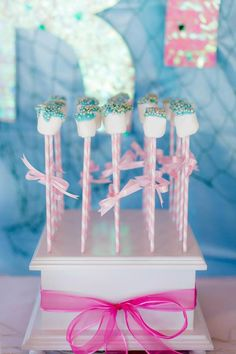 Bubble Guppies Under The Sea Party Planning Ideas Supplies Idea Decor 2nd Birthday Parties, Birthday Fun, Birthday Ideas, Cake Pop Holder, Cake Pop Stands, Cake Pops, Bubble Guppies Birthday, Bubble Party, Little Mermaid Parties