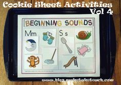Templates for practicing beginning sounds and short vowels for use on a cookie sheet! Templates are differentiated and align with reading series.  Free Sample templates on blog.