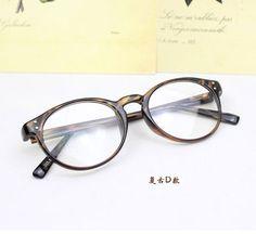 glasses on taobao 推荐 复古圆框眼镜框 可爱款小清新近视眼镜 男女镜架复古黑框镜-淘宝网