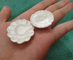 How to make miniature plates with clay! All materials used can be bought at Michaels, JoAnns, Hobby Lobby, and other local craft stores. To have a shiny effe...