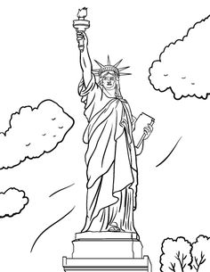 printable statue of liberty coloring page free pdf download at httpcoloringcafe