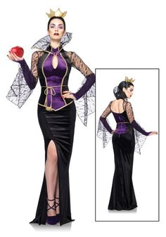 Womens Disney Evil Queen Costume http://www.halloweencostumes.com/womens-evil-queen-costume.html
