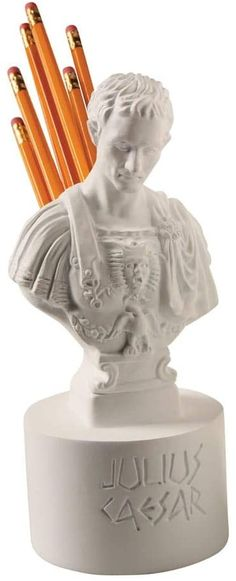 Amazon.com : Ides of March Pen and Pencil Holder - Julius Caesar Office Desk Accessory : Office Products Pencil Holder, Pen Holders, Gifts For History Buffs, Julius Caesar, Pens And Pencils, Best Pens, Sentimental Gifts, Desk Organization, Desk Accessories