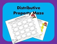 """Distributive Property Maze: Students practice the distributive property!  My students are always more engaged when a worksheet doesn't look like a """"boring old worksheet"""", so disguise it as a maze!  Your students will enjoy finding the right path to the barn as they practice solving the distributive property."""