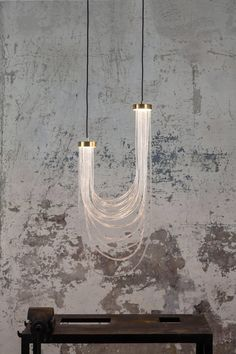 luminescence リ double cascade ceiling lamp light by MORGHEN, 2017 for sale at Pamono Rustic Lighting, Cool Lighting, Interior Lighting, Lighting Stores, Modern Lighting Design, Contemporary Design, Luxury Lighting, Studio Lighting, Industrial Lighting
