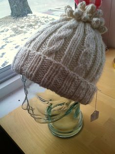 Ravelry: Cabled Cocoon Hat pattern by Brigitte Pieke