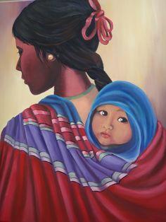"""Coyita -- by Argentine artist Ana Maria Sacristan Mexican Artwork, Mexican Paintings, Mexican Folk Art, Mexico Art, Spanish Art, Feminine Mystique, Mexican Artists, Chicano Art, Southwest Art"