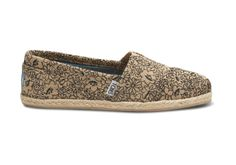 Natural Embroidered Floral Women's Classics