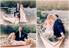Davita and Nolan's Stunning Handcrafted, Lakeside Canadian Wedding by Luke Liable Anna Campbell Bridal Coco Dress | Vintage-inspired hand-beaded wedding dress with flowing silk tulle romantic skirt