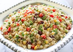 Edamame Quinoa Salad. I am going to try this without the corn and almonds. (I may have almonds on the side for anyone that wanted to add them) Corn is my inflammation/migraine trigger for sure!
