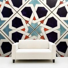 geometry Handmade tiles can be colour coordinated and customized re. shape, texture, pattern, etc. by ceramic design studios