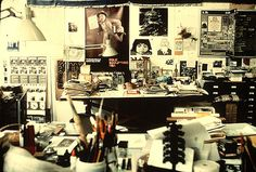 Ray Eames desk and workspace