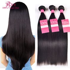 7A Unprocessed Virgin Hair Indian Virgin Hair Straight Weave 3 bundles Raw Indian Hair Bundles Cheap Remy Human Hair extensions